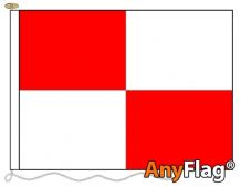 RED AND WHITE QUARTERED ANYFLAG RANGE - VARIOUS SIZES